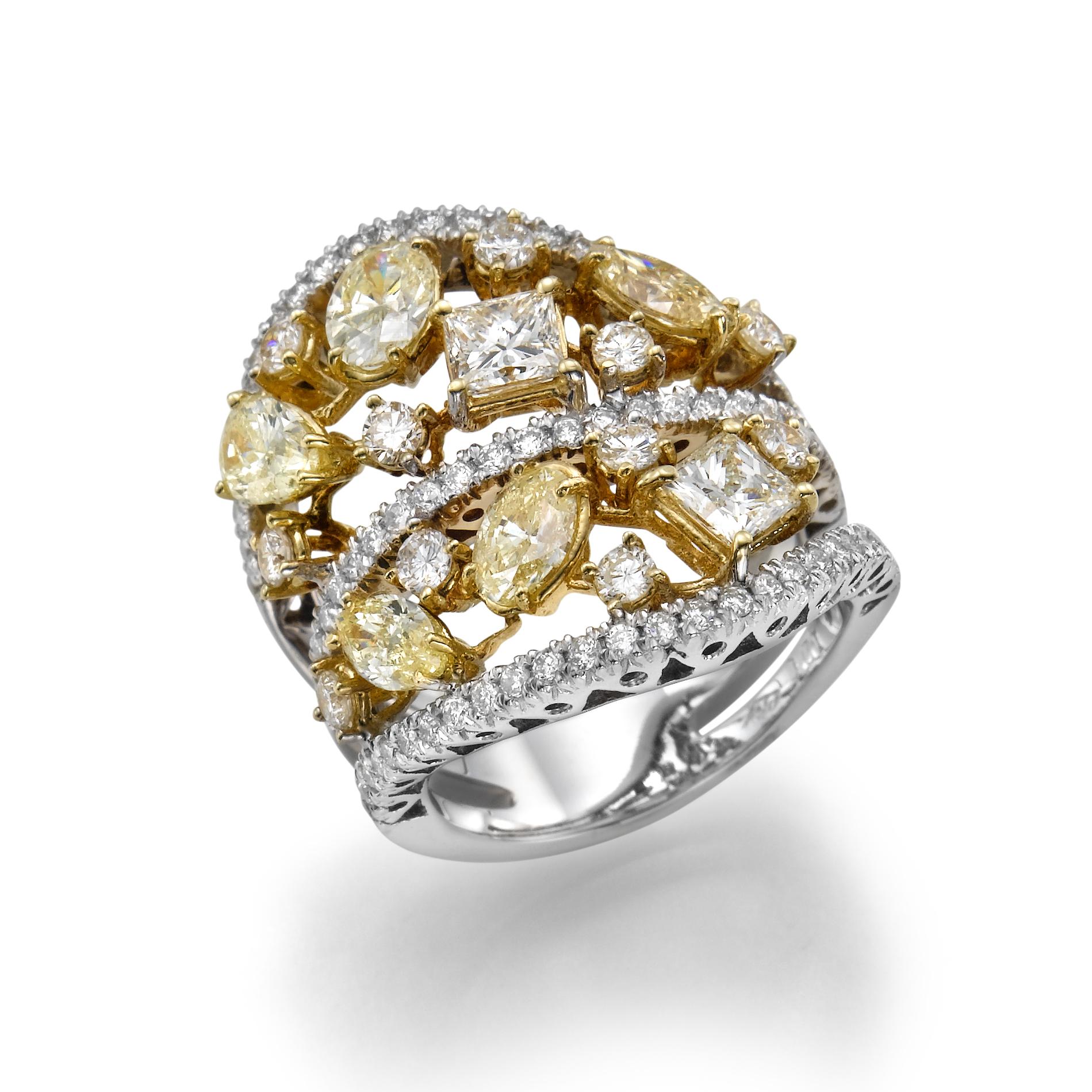 Кольцо с бриллиантами 152241