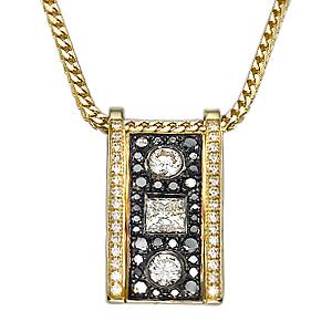 Кулон с черными бриллиантами 157011М