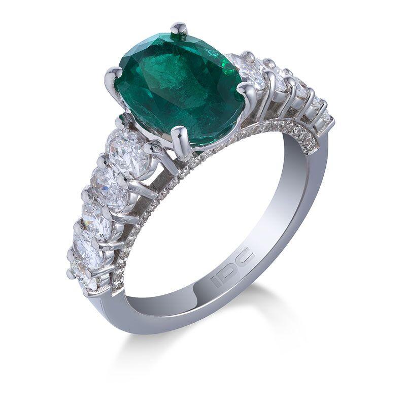 Кольцо с изумрудом 157197