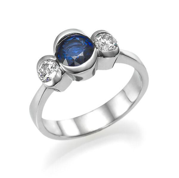 Кольцо с сапфиром 160516
