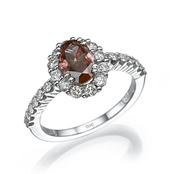 Кольцо с фантазийным бриллиантом 164704