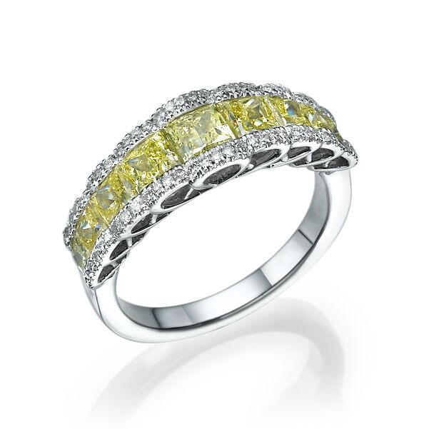 Кольцо с желтыми бриллиантами 172733