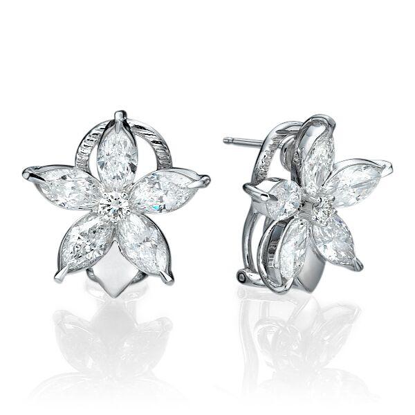 Серьги с бриллиантами 178409