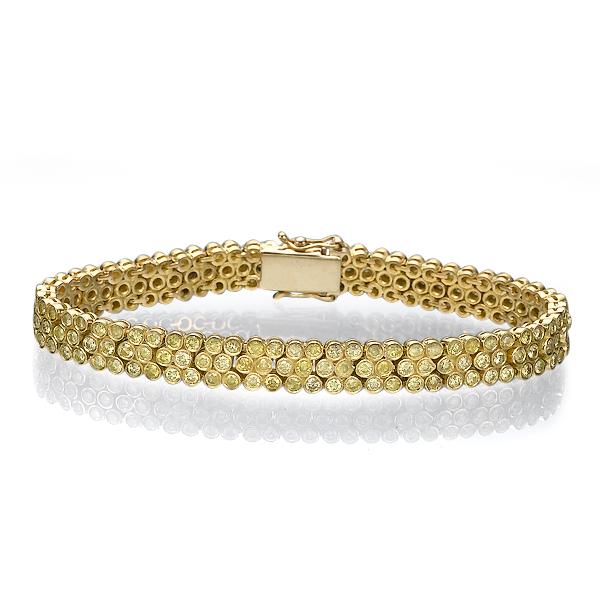 Браслет с желтыми бриллиантами 79437
