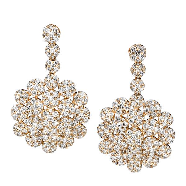 Серьги с бриллиантами 191320