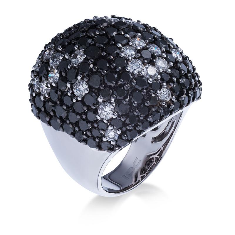 Кольцо с черными бриллиантами 177106C