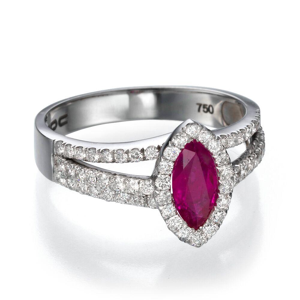 Кольцо с рубином 179037