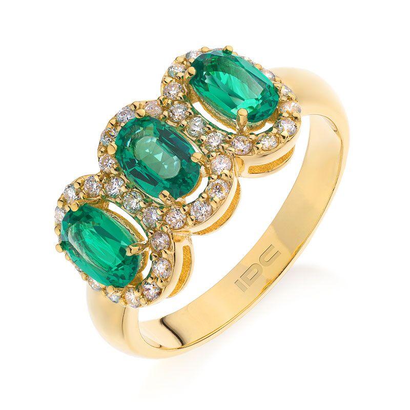 Кольцо с изумрудами 182454