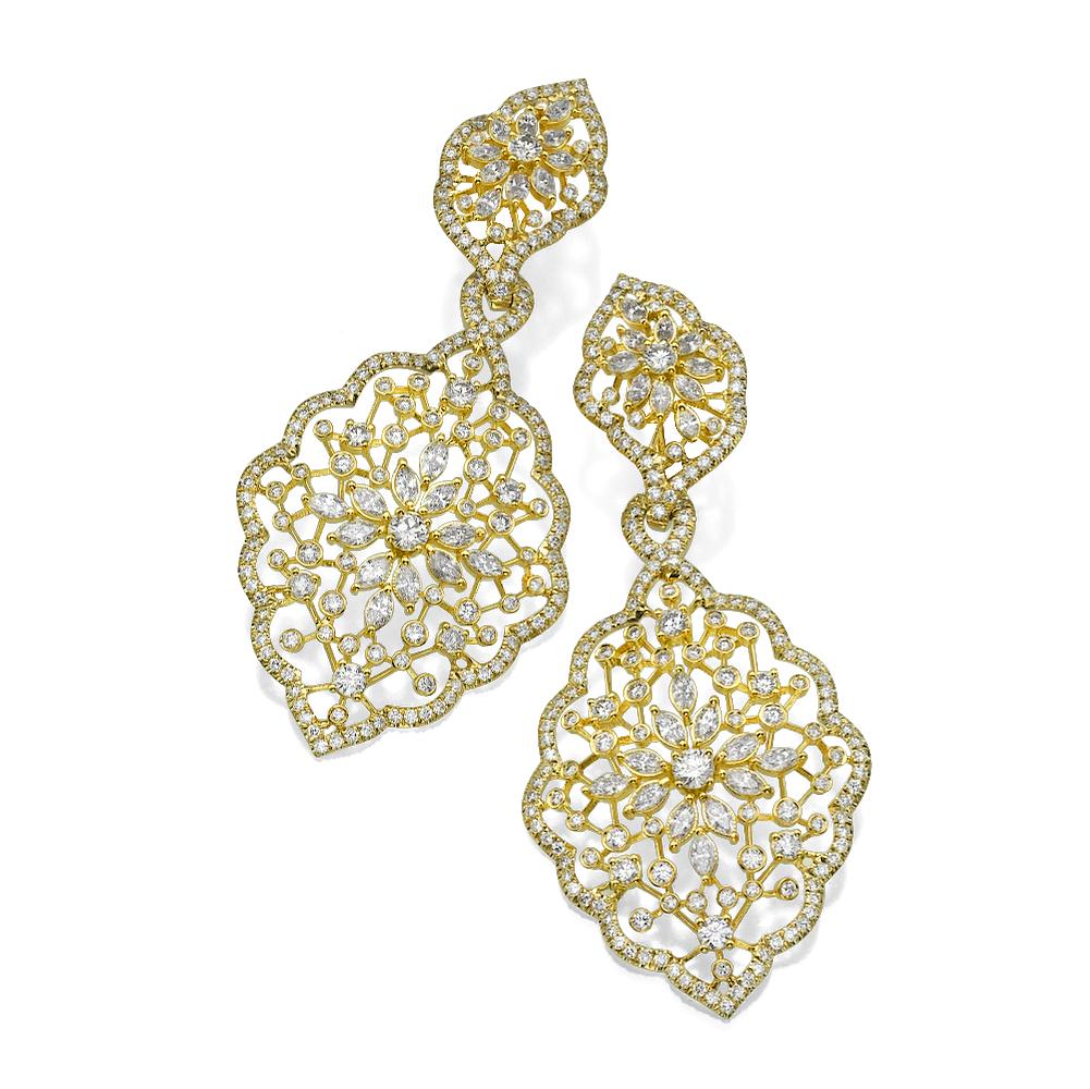 Серьги  с бриллиантами 182680