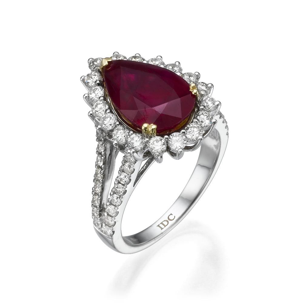 Кольцо с рубином 183262M