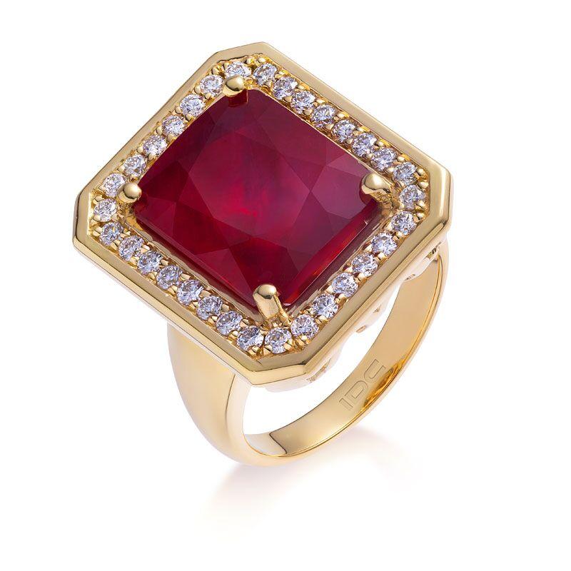 Кольцо с рубином 184482