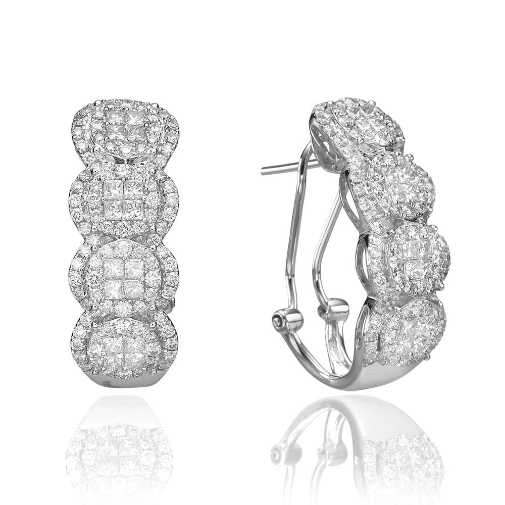 Серьги с бриллиантами 186185M