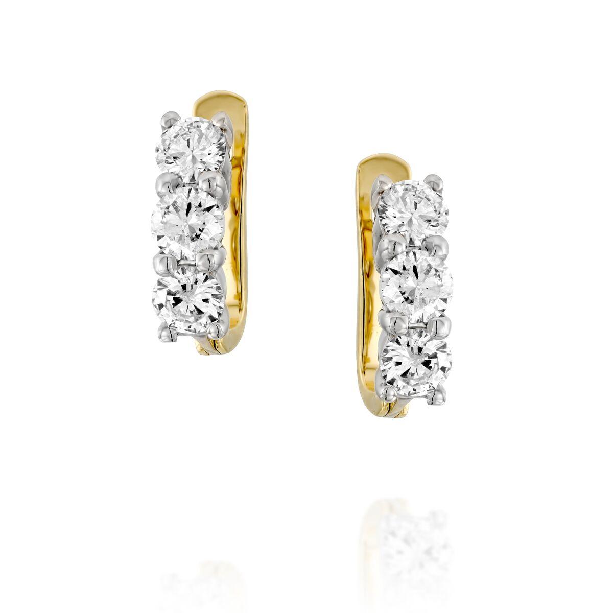 Серьги с бриллиантами 186986