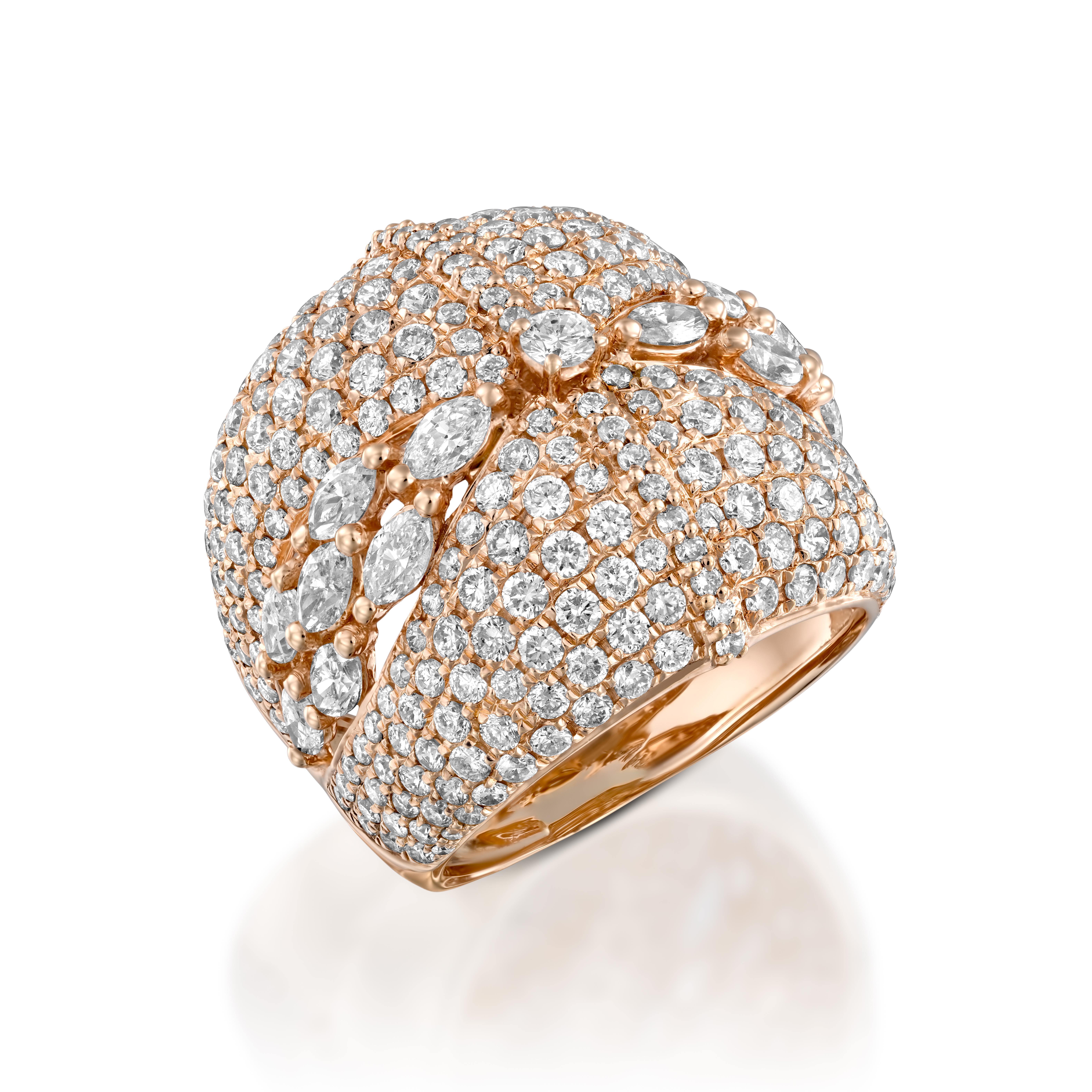Кольцо с бриллиантами 192348С