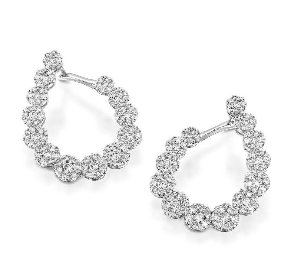 Серьги с бриллиантами 189617С