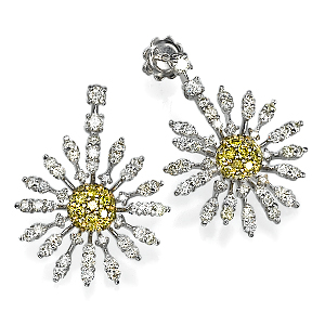 Серьги с бриллиантами 76314