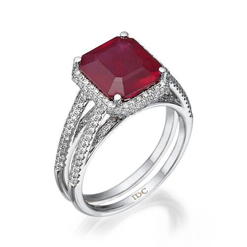 Кольцо с рубином 99829
