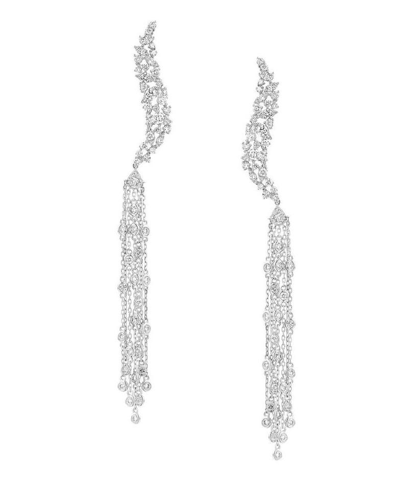 Серьги с бриллиантами 193477C